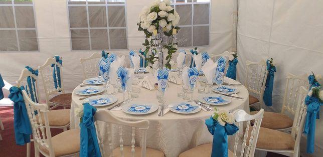 Inchiriere corturi  cu podea, mese, scaune,  pentru nunti, botezuri