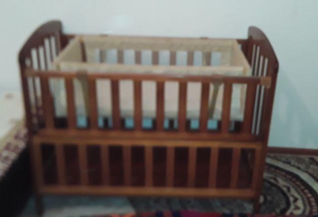 Детская манеж-кровать с люлькой