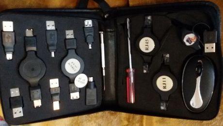 Накрайници за компютър ЮЕсБи към ЮЕсБи, в кожена кутия