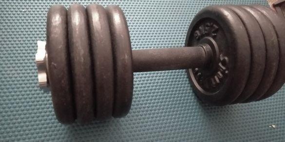 Дъмбели Гири 2 х 22,5кг метални, разглобяеми