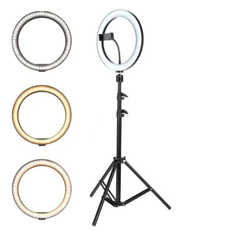 Lampa circulara Ring Light, diametru 26cm/10inch LED , trepied TIK TOK