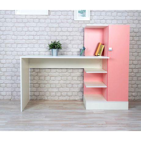 Письменный стол В1 и В2 ! Россия! Белые, бело-розовый!
