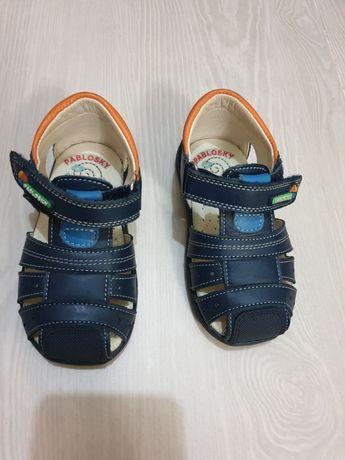 Детские кожаные сандалии pablosky размер 21