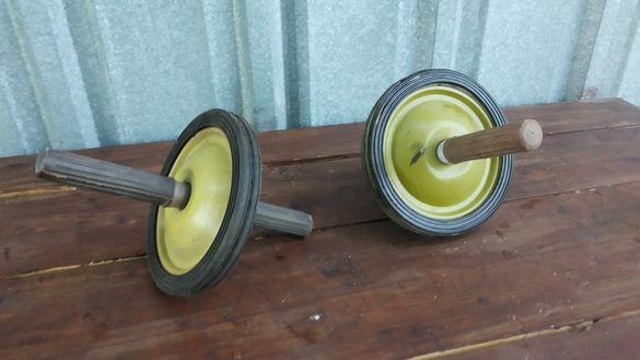 Ретро фитнес уред (колело с дръжки за разтягане)