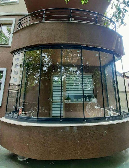 Sticlă armonică Glisantă culisantă pentru terase foisoare balcoane Bucuresti - imagine 1