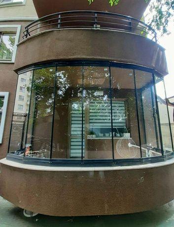 Sticlă armonică Glisantă culisantă pentru terase foisoare balcoane