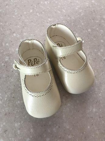 Пинетки кожаные, детская обувь, туфельки