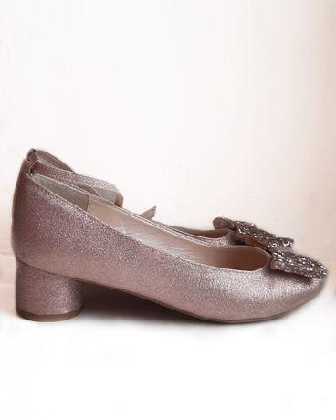 туфли розовые monsoon children брендовые