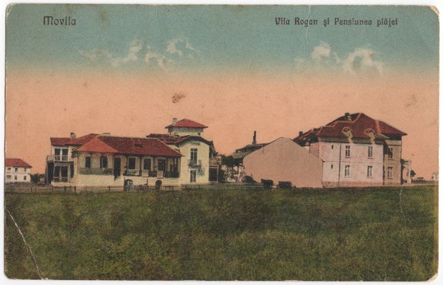 Carte poștală 1932 - stațiunea Movila - Vila Roghin