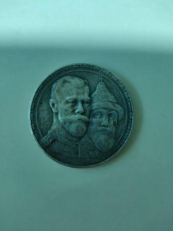 Монета 1 рубль серебро Николай II