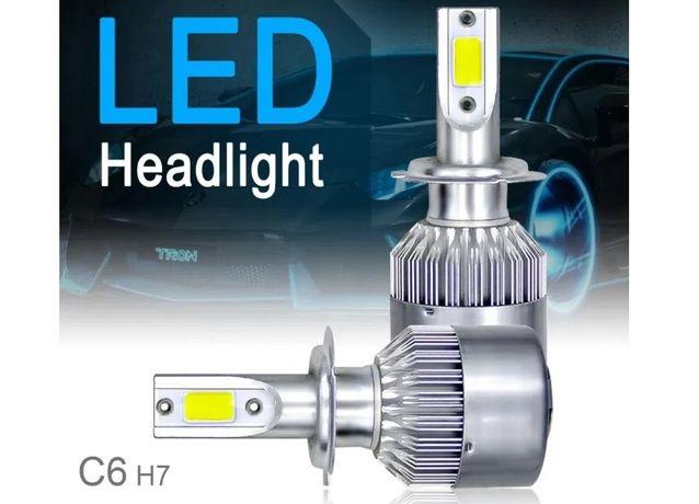 Kit 2 becuri LED auto 72W C6 H3 H7 HB3 9005