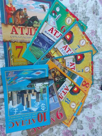 Атласы 6,7,8,9,10 классов по географиии истории!!!