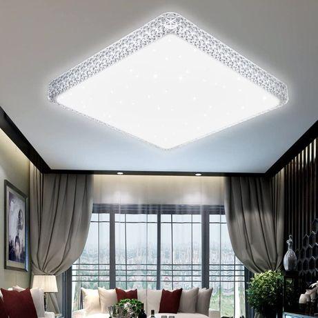 VINGO® 60W LED кристална таванна светлина звездно небе хладно бяла зве