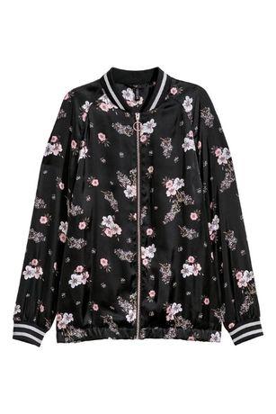 H&M Jachetă de aviator de satin