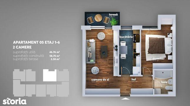 Avans 5% Apartament 2 camere,Metrou Aparatorii Patriei