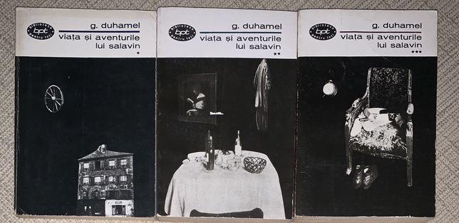 Viata si aventurile lui Salavin, vol. 1,2, 3, de Georges Duhamel, 1966