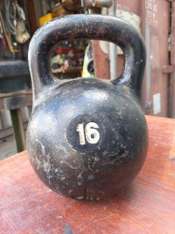 Гиря 16 кг советская