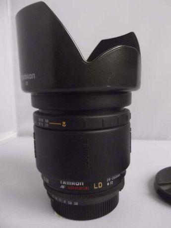 Obiectiv Tamron 28-200 montura Nikon, complet, parasolar+ capace