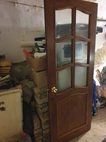 Дверь из чистого дерева 80см.