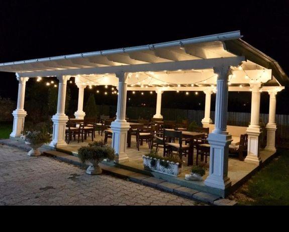 Foisor , terasa restaurant ,Coloane din Beton