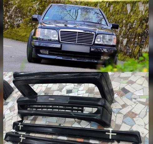 Бампер Е34 Е36 Е39 Мерседес 124 БМВ Мерс тюнинг бамперы пороги лупарик