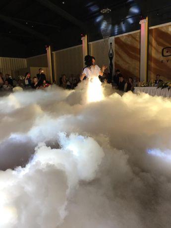 Gheata carbonica dansul mirilor /Fum greu /Artificii