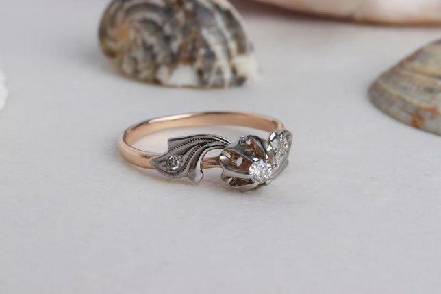 Кольцо с бриллиантами, золото 585 Россия, вес 2.46 г. «Ломбард Белый»
