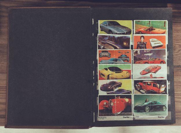 Коллекция вкладышей Турбо, Turbo Super, Sport. Черные, жёлтые. Фантики