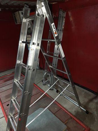 Scara aluminiu 2x7, 3x7 trepte