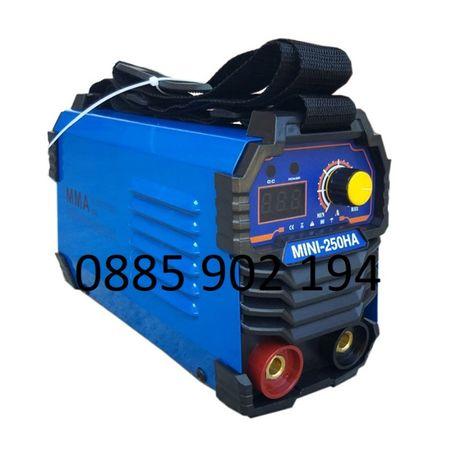 250А МАХ Мини 2,5 кг Електрожен инверторен 4м кабели с дисплей НА