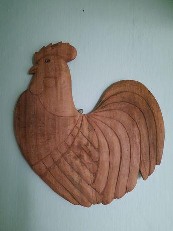 Cocoșul Galic,din lemn sculptat