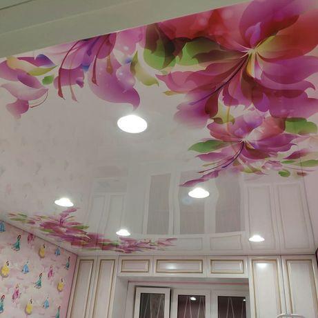 Натяжные потолки от 1200 за кв.метр