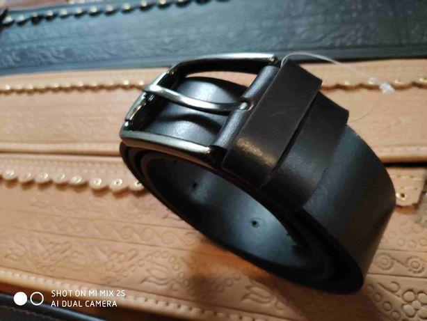 Curea / Negru [l: 4cm] *Piele de Bovina