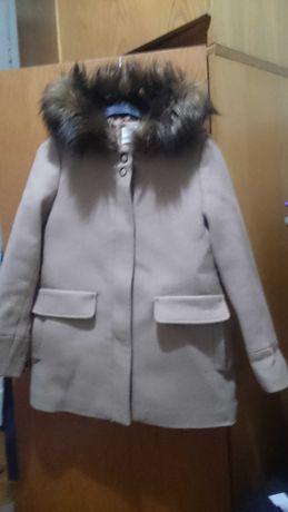 Palton stofa bej fete 10ani Zara nefolosit