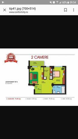 73 mp Apartament 2 camere, Confort City, splaiul unirii ocazie