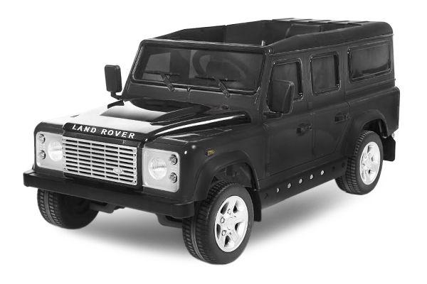 Masinuta eletrica Kinderauto Land Rover Defender cu ROTI MOI #Negru