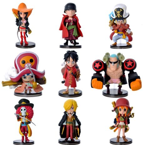 Set Figurina One Piece Luffy Zoro Sanji Robin Nami Brook anime 7 cm