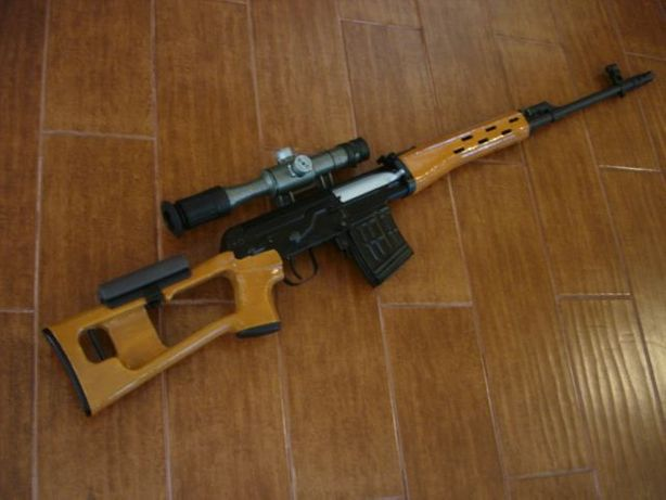 Pusca MODIFICATA airsoft arc sniper awp DRAGUNOV,luneta, bile incluse.