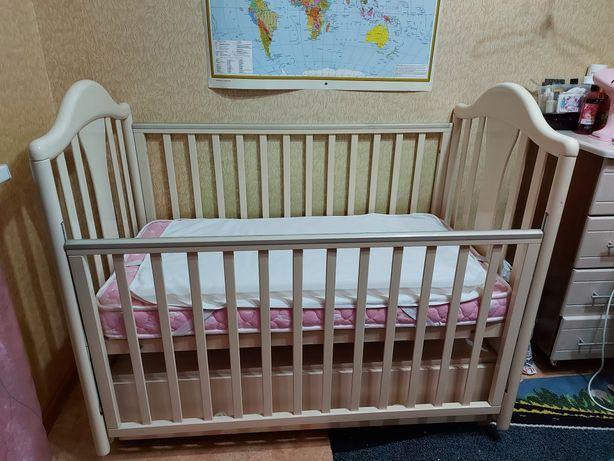 Кроватка детская с ортопедическим матрасом