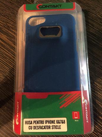 Husa telefon,iPhone 6,7si 8,cu desfacator de sticle