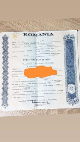 Certificat actionar ULVEX Buzau