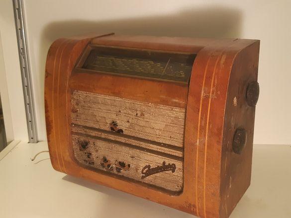 Старо лампово радио SCHWARZBURG от 60те години на миналия век