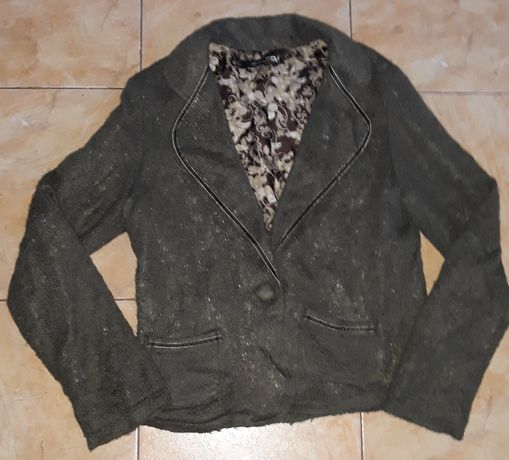 Дамско сако с ефетна плетка, подплатено на марката Peppercorn