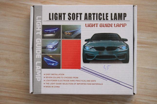 Banda led auto flexibila lumini de zi semnalizare 12v set 60 / 45 / 30