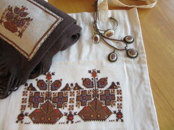 Ръчно бродирани аксесоари и бижута с българска шевица