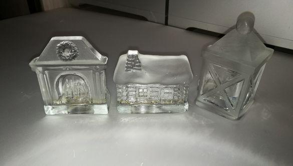 Продавам декоративни свещници Nybro - кристал Sweden