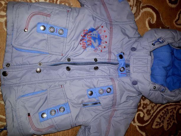Зимняя детская куртка с комбезом.