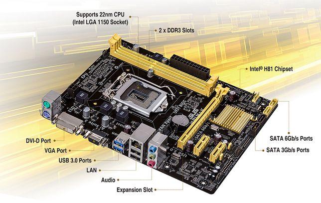 Kit sh ASUS H81M-K si procesor I7-4770 3.40ghz 8M Cache