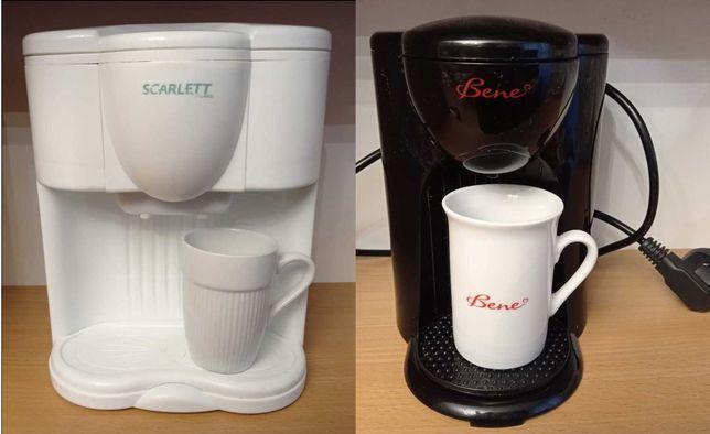 Кофеварка Scarlett SC-032 (белый). Кофеварка Bene F10-BK (черный)