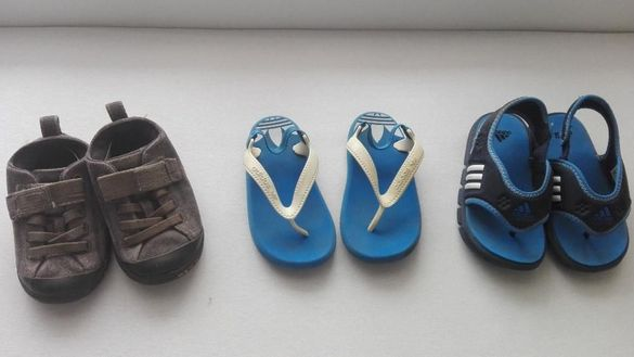 маратонки Nike Sensory motion system и сандали Adidas и затворени санд
